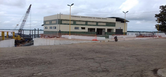 Terminal Hidroviário de Terra Santa deve ser entregue final de junho