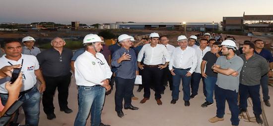 Estado vistoria obras do Terminal Hidroviário de Santarém